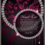 ダイヤモンドを持つ抽象イラスト — ストックベクタ