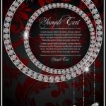 abstracte illustratie met de diamanten — Stockvector