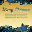 Blue  xmas   backgraund - Image vectorielle