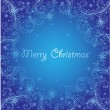 Blue xmas abstract background — Stock Vector