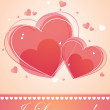 Card of valentine day — Vector de stock