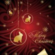 Royalty-Free Stock Imagem Vetorial: Decorative xmas  red  illustration