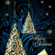 Decorative xmas  illustration — Image vectorielle