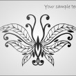 Stylized beautiful butterfly — Stock Vector