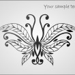 Stylized beautiful butterfly — Vektorgrafik