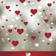 Stock Vector: Valentine art background
