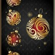 Vector different christmas balls - Image vectorielle