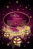 クリスマスの装飾的な背景 — ストックベクタ