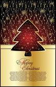 Ilustrace pro design s vánoční strom — Stock vektor