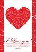 Coeur abstrait rouge — Vecteur