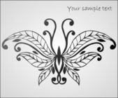 Stylized beautiful butterfly — Vettoriale Stock
