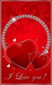 Valentin abbildung mit den diamanten — Stockvektor