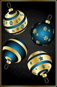 Vector christmas balls — Stock Vector