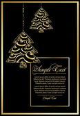 векторные иллюстрации с рождественское дерево — Cтоковый вектор