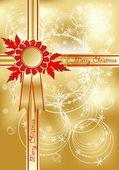 Xmas greeting golden card — Stock Vector