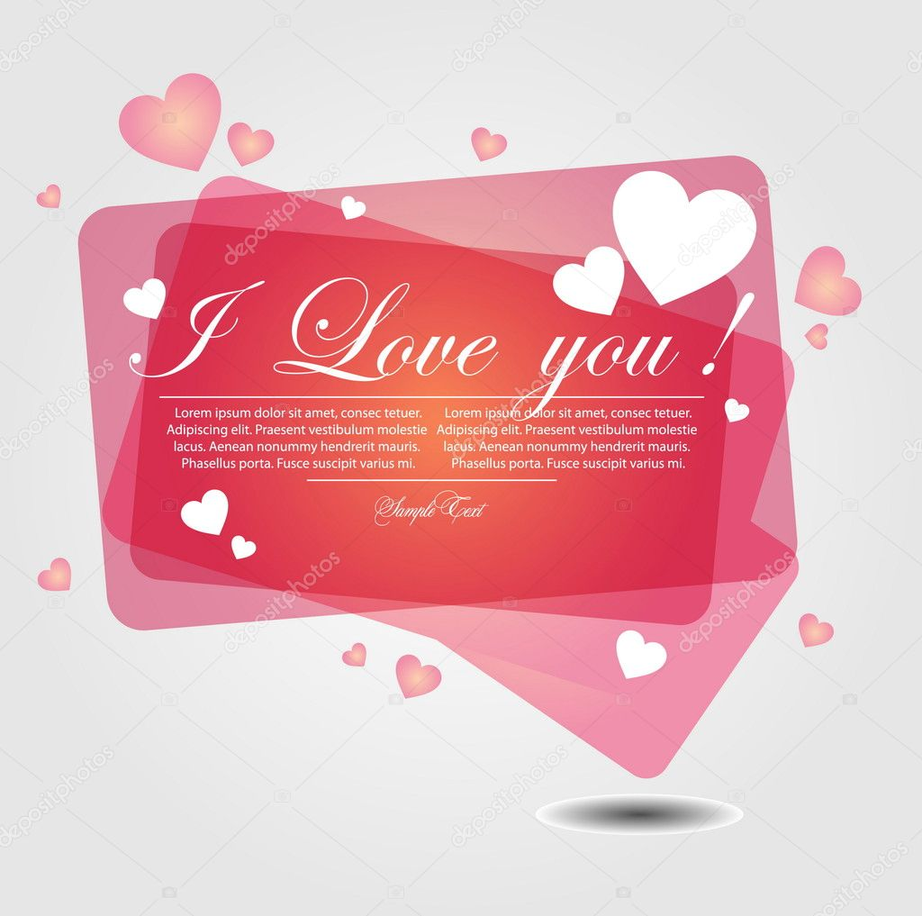 Background with hearts — Stock Vector #5576980