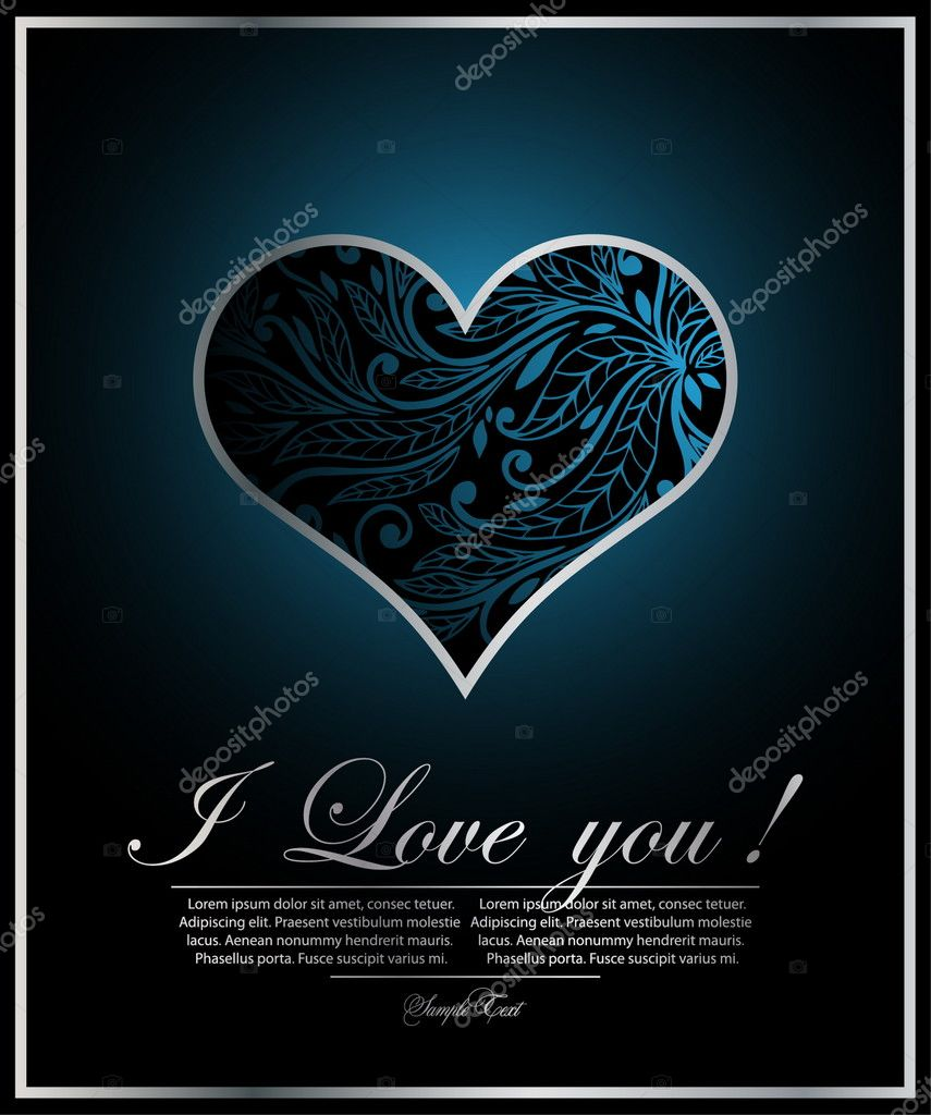 Blue beautiful heart — Stock Vector #5577086