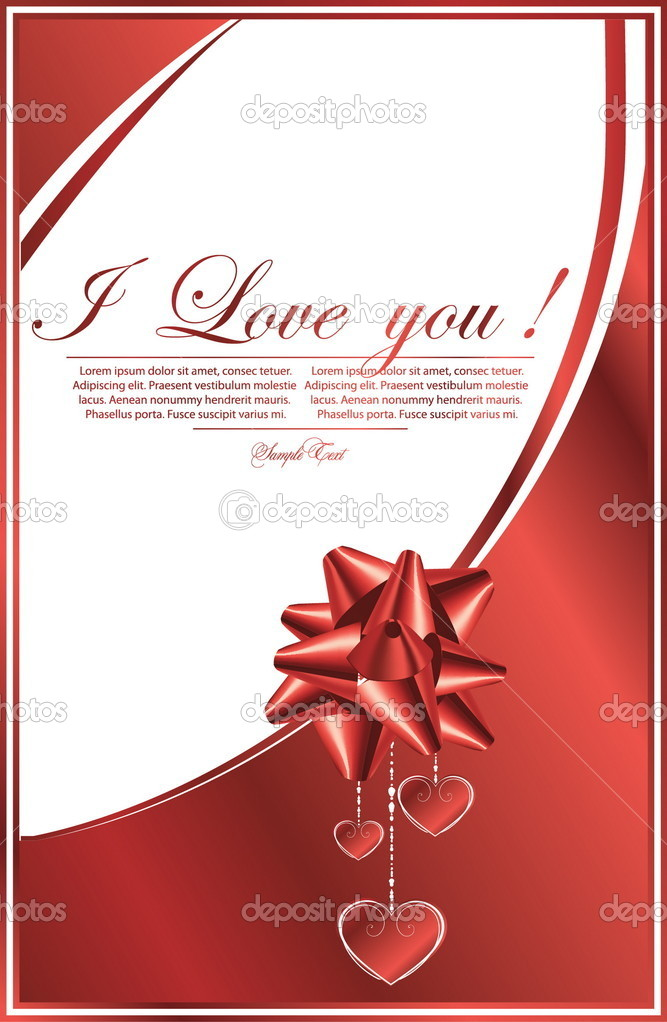 Romantic  wallpaper with hearts — Stock Vector #5577737