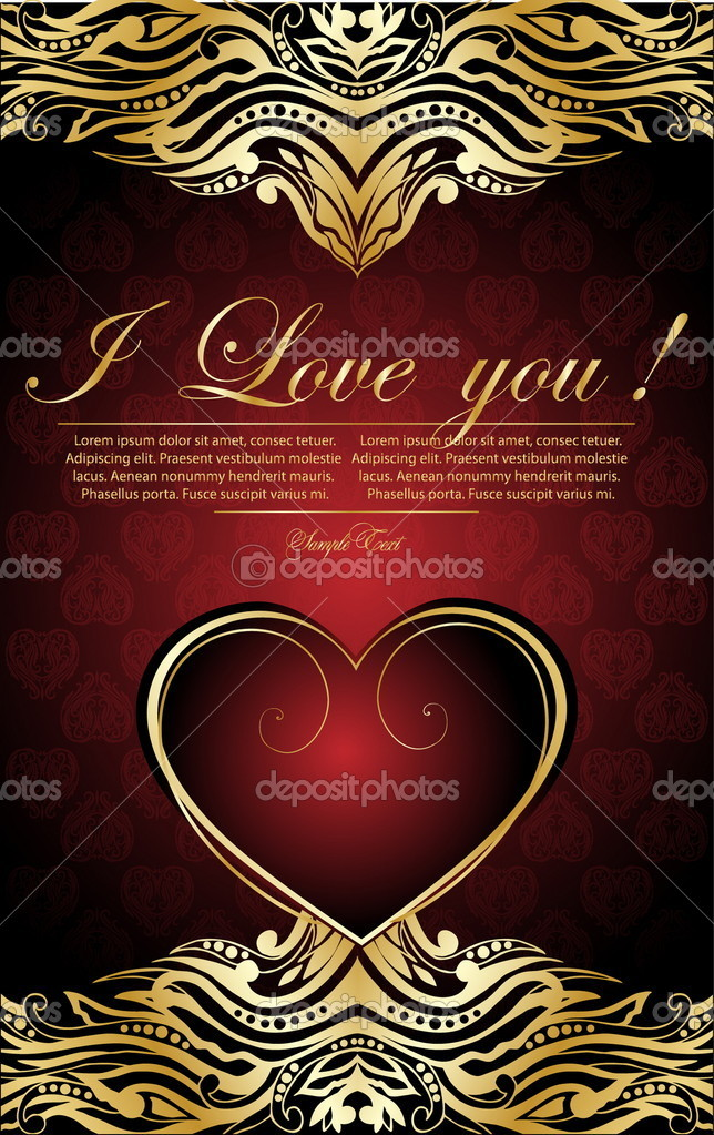 Valentine's day card. vector — Stock Vector #5578165