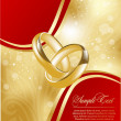 Abstract gold greeting card for design — Stock Vector