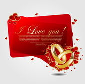 Romantic background with heart — Stock Vector