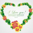 Stockvector : Abstract floral heart