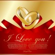 Abstract frame with wedding rings — Vector de stock #6641193