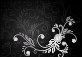 Abstrakt svart bakgrund — Stockvektor