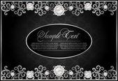 Antique black background — Stock Vector