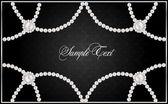 現実的なベクトルの真珠と背景 — ストックベクタ