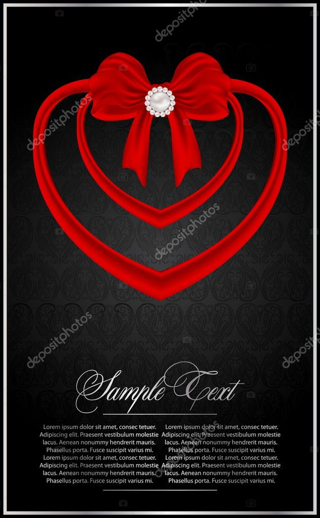 Abstract valentine's card — Imagen vectorial #6641302