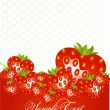 Abstract card with strawberry fruits — Stockvektor