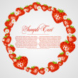 Abstract frame with strawberry fruits — Stockvectorbeeld