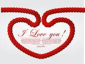 Węzeł liny w kształcie serca — Wektor stockowy