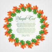 树叶的背景 — 图库矢量图片