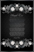 Antique black background — Stockvektor