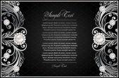アンティークの黒の背景 — ストックベクタ