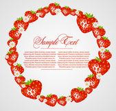 абстрактный рама с клубники фрукты — Cтоковый вектор