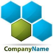 Cell logo — Stock Vector