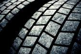 Usado fundo escuro de pneus — Foto Stock