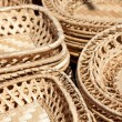 Close-up of the woven plates — Stock Photo