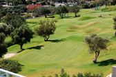 The golf field at luxury hotel, Crete, Greece — Stockfoto