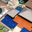 Aerial view on villa with swimming pools at the popular hotel, — Stock Photo #5433634