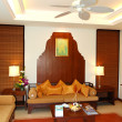Apartment of the luxury hotel decorated with Thai fruits, Pattay - ストック写真