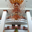 The luster at the lobby of luxury hotel, Pattaya, Thailand — Stock Photo