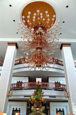 The luster at the lobby of luxury hotel, Pattaya, Thailand — Stock fotografie