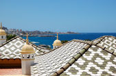 Tiled roof of the luxury villas, Tenerife island, Spain — Stock Photo