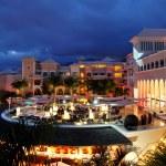 Night illumination of luxury hotel and clouds, Tenerife island, — Stock Photo #5848267
