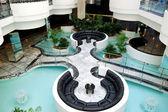 Lobby interior at luxury hotel, Tenerife island, Spain — Stock Photo