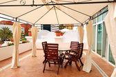 Outdoor terrace at luxury villa, Tenerife island, Spain — Stock Photo